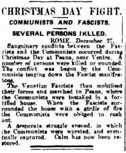 Christmas Day fight December 1922