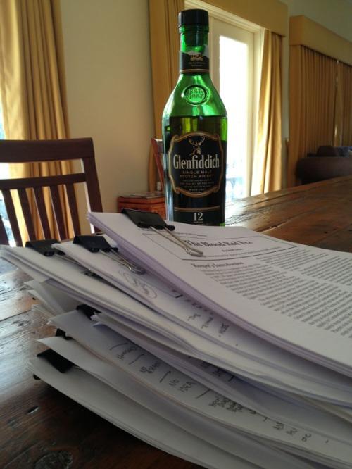 Orient Express manuscript pile