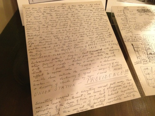 Lovecraft's Providence homecoming letter