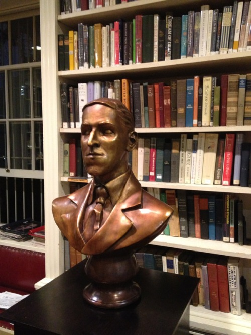 H.P. Lovecraft bronze bust sculpted by Btyan Moore