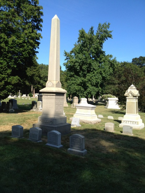 The Phillips family plot, Swan Point Cemetery Providence
