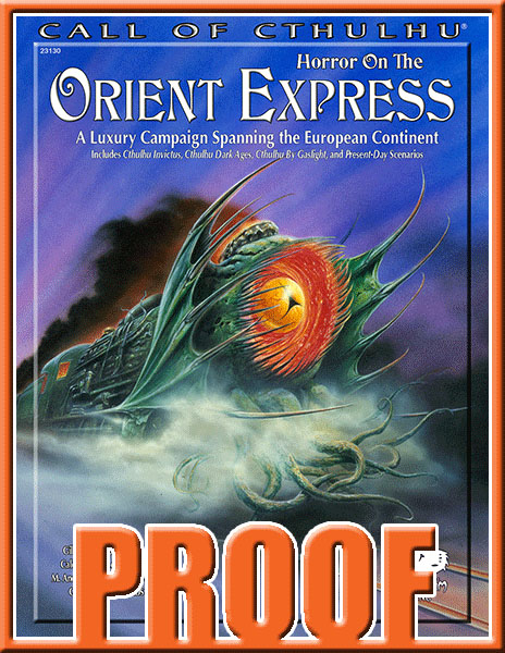 Horror on the Orient Express proof copy