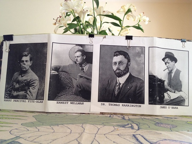 Keeper's screen with period photos
