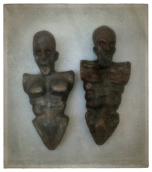 Sedefkar Simulacrum female and male torsos