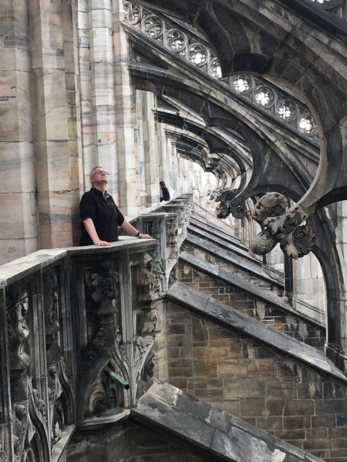 Mark on the Duomo roof