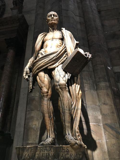 Statue in the Duomo