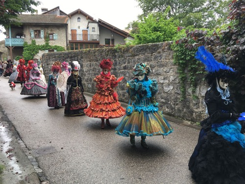 Yvoire Masked Ball Procession