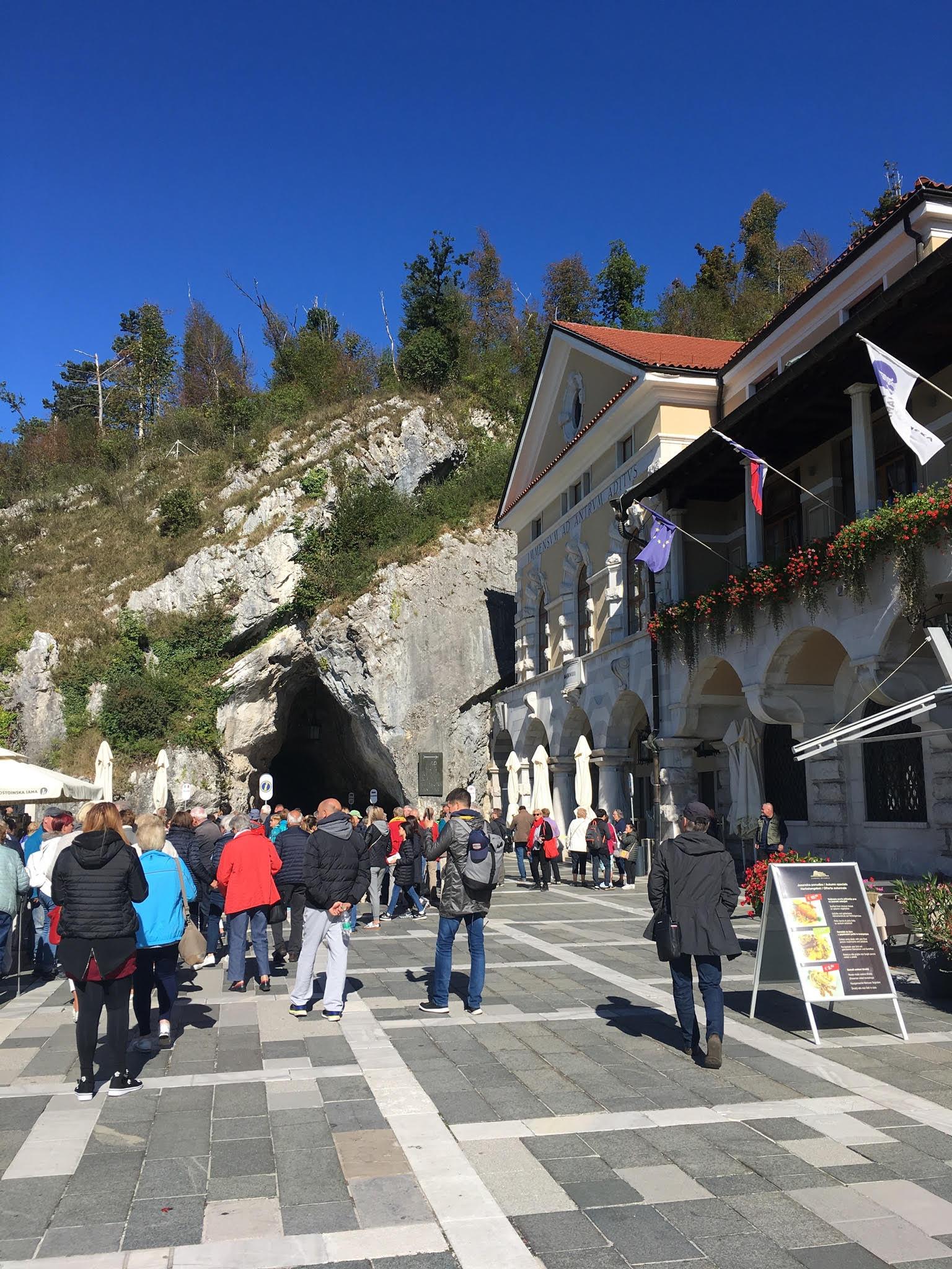 Entrance to Postojna Cavern